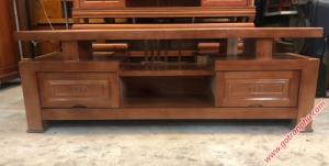 Kệ tivi giá rẻ gỗ xoan đào 1m8