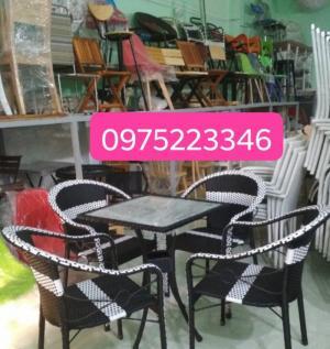Bàn Ghế cafe Đep Quang Đại cung cấp sẩn phẩm bàn ghế mây nhựa, bàn ghế cafe,