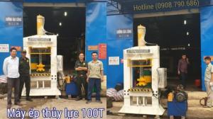 Máy ép dập thủy lực H100 tấn- Hitechvn