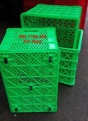Rổ nhựa 5 bánh xe đựng hàng may mặc LHe 0967788450 Ngọc