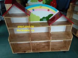 Cung cấp kệ tủ gỗ mầm non cho trường mẫu giáo chất lượng đảm bảo