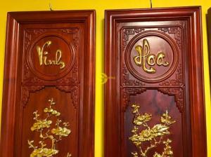 Tranh Vinh hoa phú quý gỗ cao cấp dát vàng cao 1m – T011