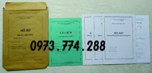 Bán hồ sơ cán bộ viên chức dùng cho các ngành
