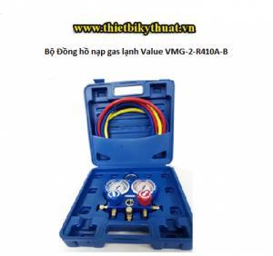 Bộ Đồng hồ nạp gas lạnh Value VMG-2-R410A-B