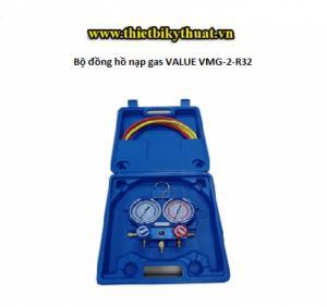 Bộ Đồng hồ nạp gas lạnh Value VMG-2-R32 - Hàng chính hãng