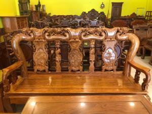 Bộ bàn ghế gỗ hương vân tuyển chọn siêu đẹp như gỗ cẩm lai