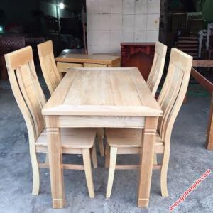 Bàn ăn gỗ tự nhiên gỗ sồi Nga 4 ghế