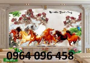 Tranh gạch men ốp tường 3d mẫu tranh con ngựa