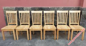 Ghế ăn gỗ cao su nhập khẩu cao cấp (không nệm)
