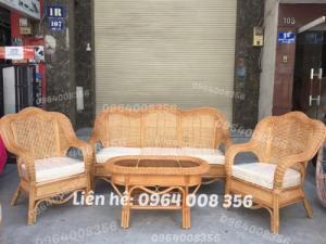 Sofa bàn ghế cổ điển bằng mây tre đan tự nhiên