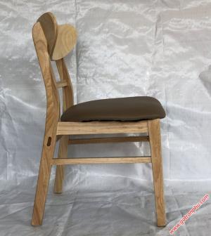 Ghế bàn ăn đẹp giá rẻ gỗ cao su nhập khẩu cao cấp (bọc da)