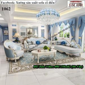 Sofa cổ điển - Bàn ghế gỗ phòng khách tân cổ điển châu âu siêu đẹp