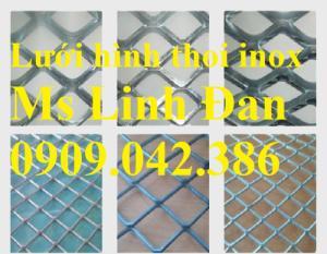 Lưới hình thoi inox, lưới mắt cáo inox, lưới kéo giãn inox, lưới inox