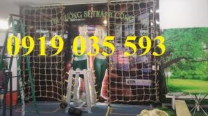 Lưới dây thừng sợi đay nâu lưới dây bố an toàn chuyên nằm và leo trèo