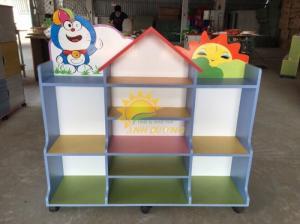 Tủ kệ gỗ trẻ em cho trường mầm non, lớp mẫu giáo, gia đình