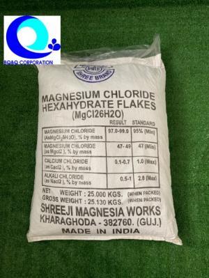 Mua bán muối MgCl2 dạng vảy Ấn Độ giá tốt Magie clorua (MgCl2) Cung cấp khoán