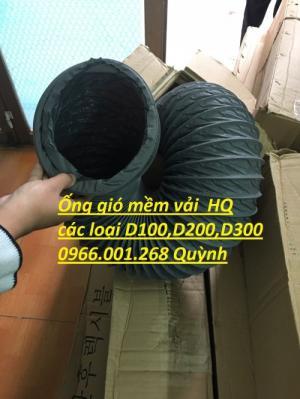 Ống gió mềm vải Tarpaulin - Fiber phi 200, phi 250, phi 300 và các loại khác