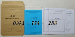 Bán mẫu hồ sơ cán bộ công chức viên chức
