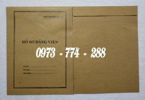 Bì, bìa, túi, vỏ đựng bộ hồ sơ Đảng viên