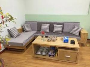 Bàn ghế sofa gỗ phòng khách hiện đại có nệm tphcm giá rẻ tại xưởng