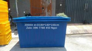 Thùng nhựa nuôi cá 2000 lít Lhe 0967788450 Ngọc