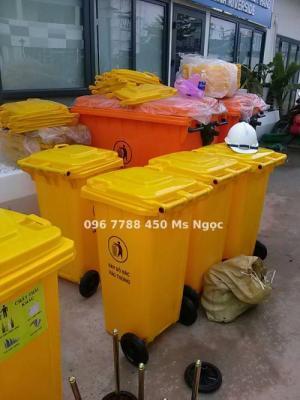 Thùng rác môi trường 120 lít, 240 lít Lhe 0967788450 Ngọc