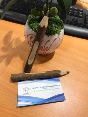 Bút bi gỗ cây tự nhiên khắc logo thương hiệu, thân thiện môi trường