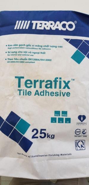 Đại lý bán keo dán gạch Terraco Terrafix màu trắng bao 25kg tại TPHCM