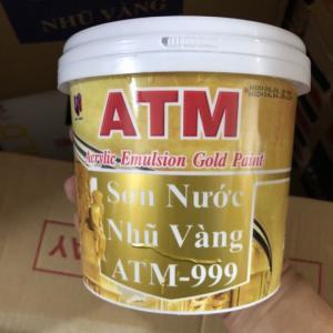 Sơn nước nhũ vàng ATM 999 lon 875ml giá rẻ tại TPHCM