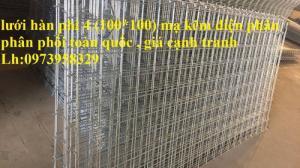 Sản xuất lưới thép hàn chập mạ kẽm Phi 4 ( 50*50),( 100*100),(150*150),( 200*