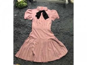 Đầm hồng nơ