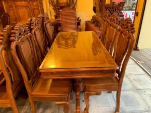 Bộ bàn ăn 6 ghế gỗ tự nhiên giá siêu tốt tại quận 7