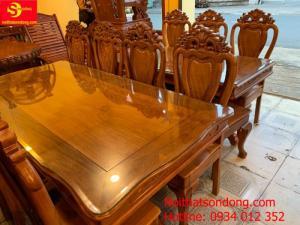 Bộ bàn ăn 8 ghế gỗ tốt giá rẻ tại Tân Phú