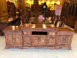 Tủ tivi gỗ cẩm lai vân siêu đẹp không giác VIP tại quận 7