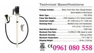 Máy bơm hóa chất thùng phuy Standard Pump Package 3, bơm hóa chất ăn mòn