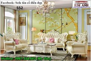 Sofa tân cổ điển tpcm - vẻ đẹp đẳng cấp bộ bàn ghế gỗ phòng khách cổ điển