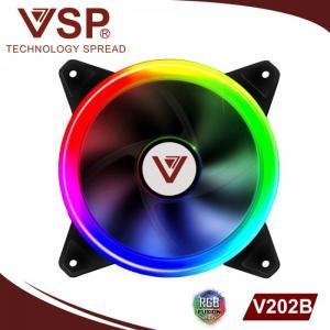 Fan Case VSP V202B Led 2 mặt tự động chuyển màu, gắn trực tiếp lên nguồn