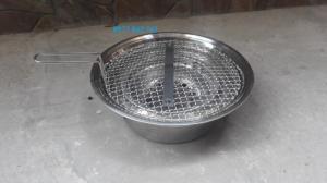 Bếp lẩu nướng than hoa chất liệu inox cao cấp đặt âm bàn
