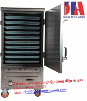 Tủ nấu cơm công nghiệp Việt Nam dùng điện & gas