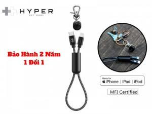 Cáp USB C to Lightning HyperDrive Keychain 18W MFI dài 0.2m