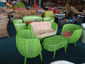 Sản xuất và cung cấp bàn ghế cafe nhựa giả mây dùng cho cafe, nhà hàng..