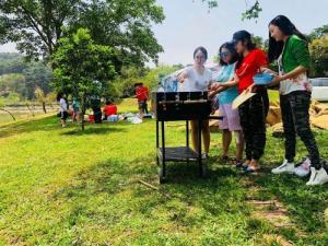 Bếp nướng than hoa sân vườn Acter tree Ck350 khung thép