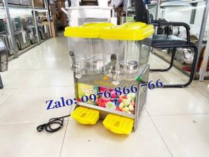 Máy làm lạnh nước trái cây - rau má mix 2 ngăn bằng điện