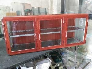 Tủ nhôm kính chén bát treo tường