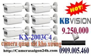 Trọn bộ 8 camera quan sát chất lượng kho xưởng