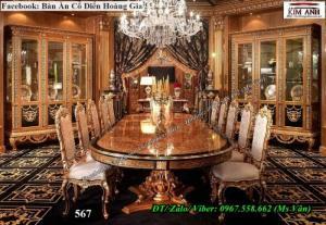 Bộ bàn ăn cổ điển - Xưởng sản xuất bàn ghế ăn tân cổ điển châu Âu ĐẸP NHẤT!