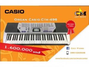 Organ Casio CTK496 likenew 90%