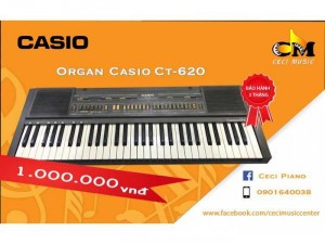 Organ Casio CT620 likenew 90%