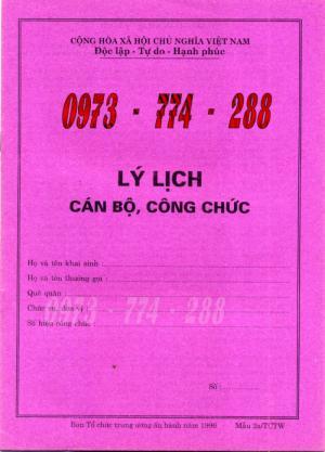 Sơ yếu lý lịch theo mẫu 2A/TCTW-96