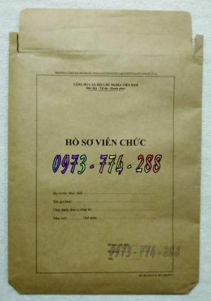 Bán vỏ túi đựng hồ sơ viên chức theo Thông tư số 07/2019/TT-BNV ngày 01/6/2019 của Bộ Nội vụ